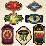 Premium Fruit Juice and Alcohol Labels. A set of premium vintage fruit juice and alcohol labels Royalty Free Illustration