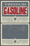 Premium Gasoline Poster for Filling Stations Stock Photography