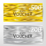 Premium Gift Voucher Template vector illustration Royalty Free Stock Photos