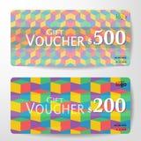 Premium Gift Voucher Template vector illustration eps 10 Stock Image