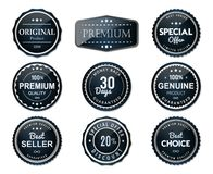 Premium glossy labels set fresh and clear stock illustration