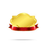 Premium Gold badge tag banner 002 Stock Photography