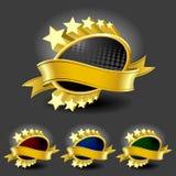 Premium Gold Framedl Labels Stock Images