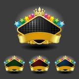 Premium Gold Framedl Labels Royalty Free Stock Images
