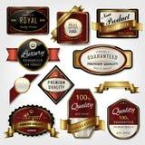 Premium golden labels collection set Stock Image