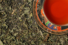 Premium green tea leaves Royalty Free Stock Photo