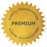 Premium guarantee label. Premium 3d rendered golden guarantee label royalty free illustration