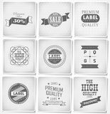Premium, Guarantee and sale Labels Royalty Free Stock Photo