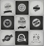 Premium, Guarantee and sale Labels Royalty Free Stock Images