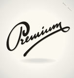 PREMIUM hand lettering (vector) Royalty Free Stock Image