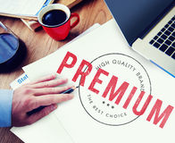 Premium High Quality Brand Concept. People Choosing Premium High Quality Brand Concept Stock Photos