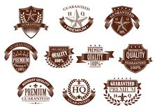 Premium and highest quality guaranteed labels Royalty Free Stock Image