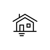 Premium home icon or logo in line style Royalty Free Stock Photos