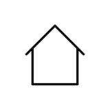 Premium home icon or logo in line style Stock Photos