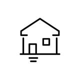 Premium home icon or logo in line style Stock Images