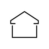 Premium home icon or logo in line style Stock Photography
