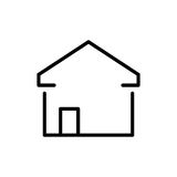 Premium home icon or logo in line style Stock Image