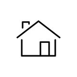 Premium home icon or logo in line style Royalty Free Stock Photography
