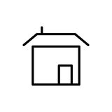 Premium home icon or logo in line style Royalty Free Stock Images