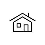 Premium home icon or logo in line style Stock Photo