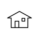 Premium home icon or logo in line style Royalty Free Stock Photo