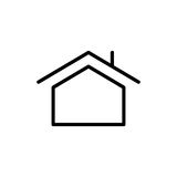 Premium home icon or logo in line style vector illustration