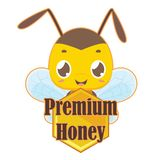 Logo with cute bee. Logo with cute little bee vector illustration