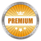 Premium icon. Isolated on white Stock Photo