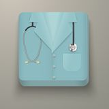 Premium Icon medical uniforms Royalty Free Stock Images