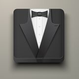 Premium Icon tuxedo and bow-tie. Stock Photography