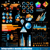 Premium infographics  master collection Royalty Free Stock Photos
