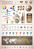Premium infographics master collection Stock Images