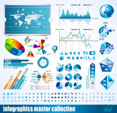 Premium infographics master collection:. Graphs, histograms, arrows, chart, 3D globe, icons and a lot of related design elements