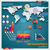 Premium infographics master collection. Vector illustration. To use on a flayer, booklets, printed materials, a concept of the sites Stock Images