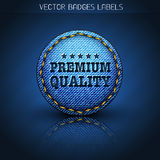 Premium jeans label Stock Photography