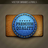 Premium jeans label Royalty Free Stock Image