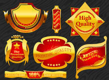 Premium label golden Royalty Free Stock Image