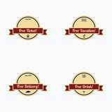 Premium label vintage quality badge theme Royalty Free Stock Images