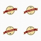 Premium label vintage quality badge theme Stock Photos