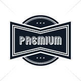 Premium label vintage quality badge theme Royalty Free Stock Photos