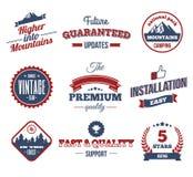 Premium labels Royalty Free Stock Image