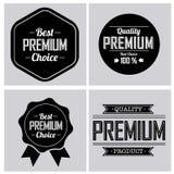 Premium labels Royalty Free Stock Photos