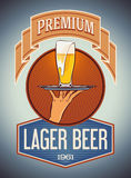 Premium lager beer Royalty Free Stock Images