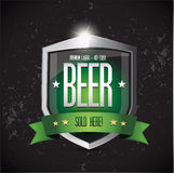 Premium lager - Ice cold Beer shield Royalty Free Stock Photo