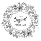 Premium lager. traditional premium quality beer Royalty Free Stock Image