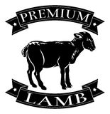 Premium lamb menu icon Stock Image