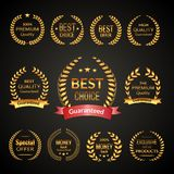Premium laurel wreath set Royalty Free Stock Photo