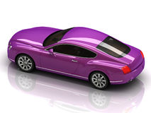 Premium lilac car with chromium wheels Royalty Free Stock Photo