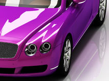 Premium lilac car with chromium wheels Royalty Free Stock Image