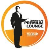 Premium lounge vector label royalty free illustration